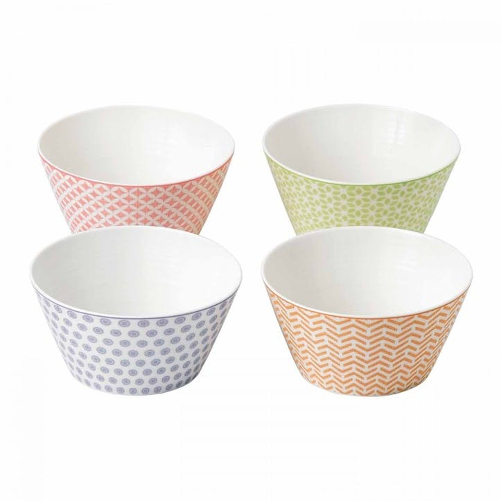 Pastels Accent Cereal Bowls, Set of 4