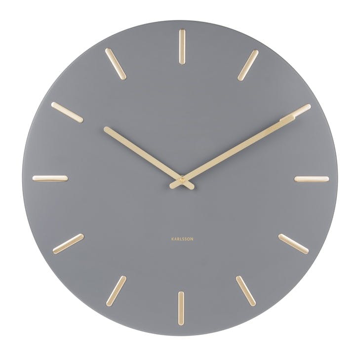 Charm Wall Clock, Grey