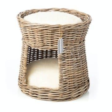 Rattan Double Bed Cat Basket