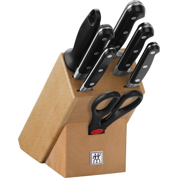 Zwilling J.A. Henckels Pro 8 Piece Knife Block Natural Wood