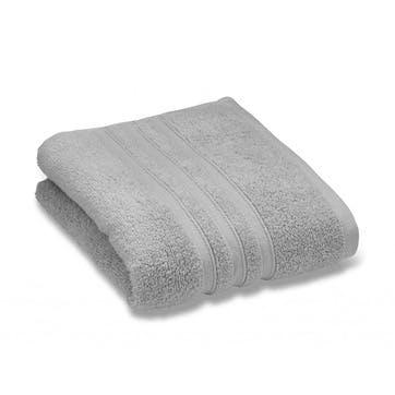 Zero Twist Hand Towel, Silver