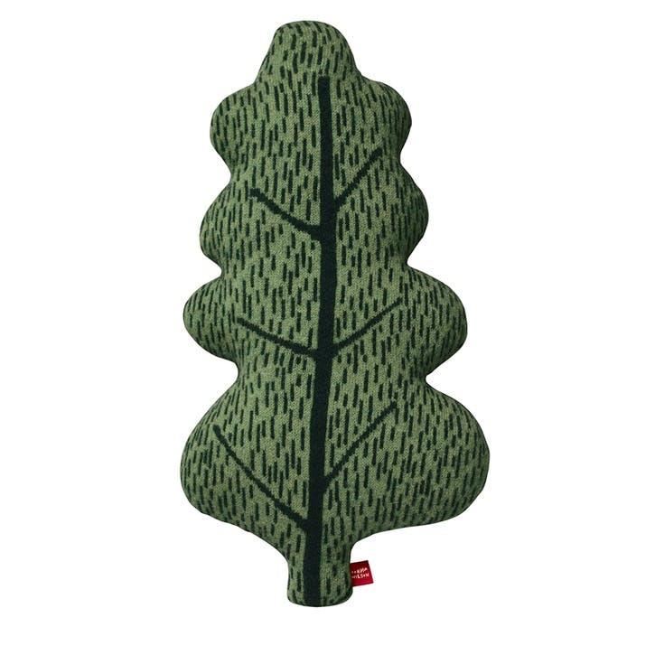 Leaf Shaped Cushion, Green
