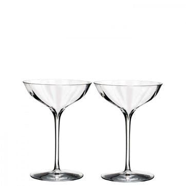 Elegance Optic Champagne Coupe, Set of 2