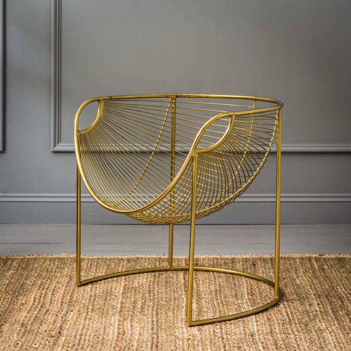 Mulberry Leaf Lounger, Gold