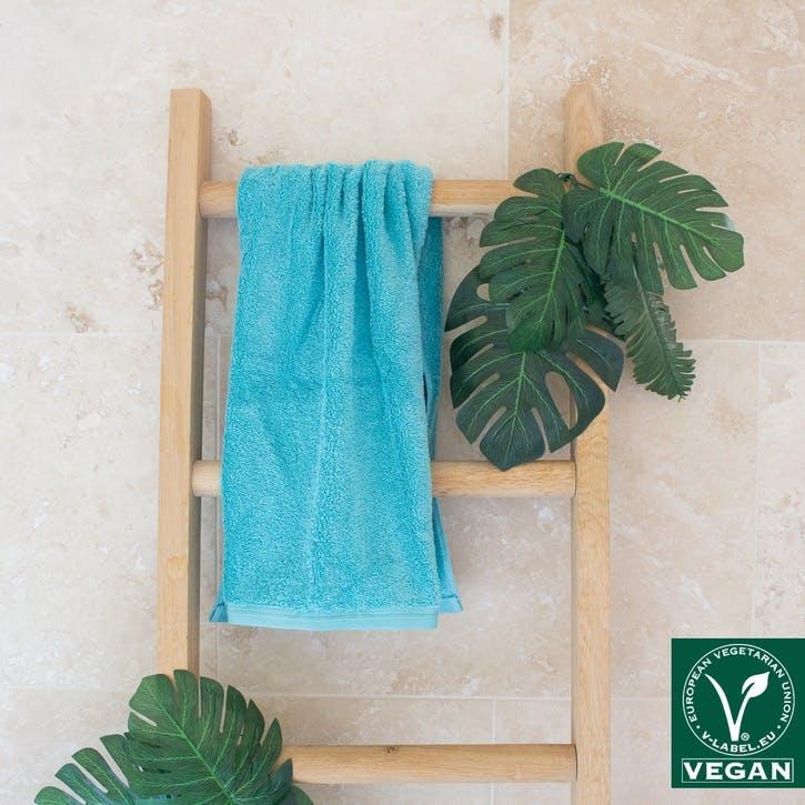 Vegan Life Hand Towel, Skyline