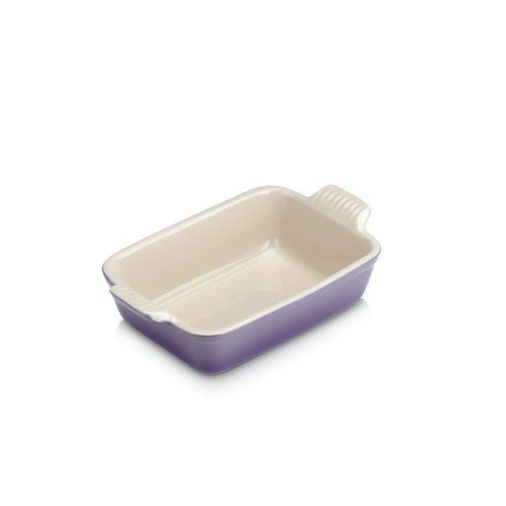 Stoneware Rectangular Dish - 19cm; Ultra Violet