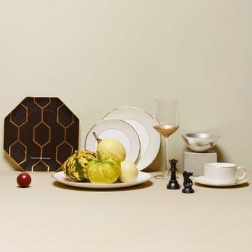 Arris White Dinner Plate, 28cm