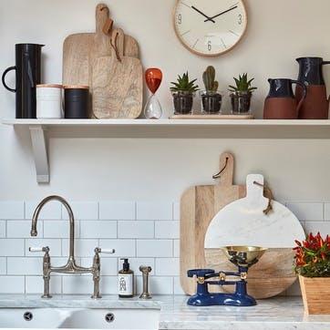 Gourmet Prep & Serve Wood & Marble Paddle Board
