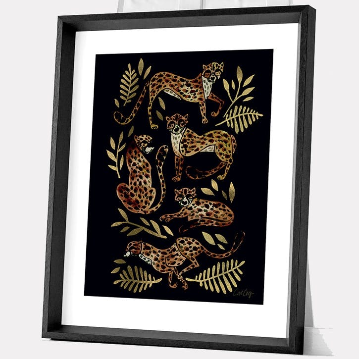 Cat Coquillette Cheetahs Framed Print, 55 x 45cm