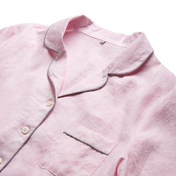 Blush Linen Pyjama Set, Medium
