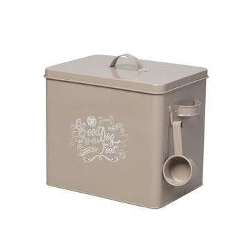 House Of Paws Good Dog Food Tin With Scoop - Large; Grey