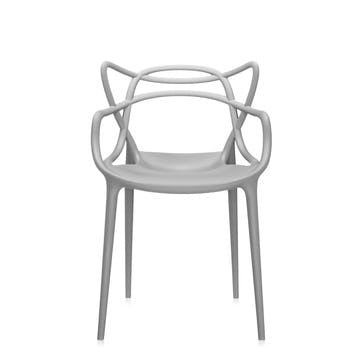 Masters, Pair of Dining Chairs, Grey