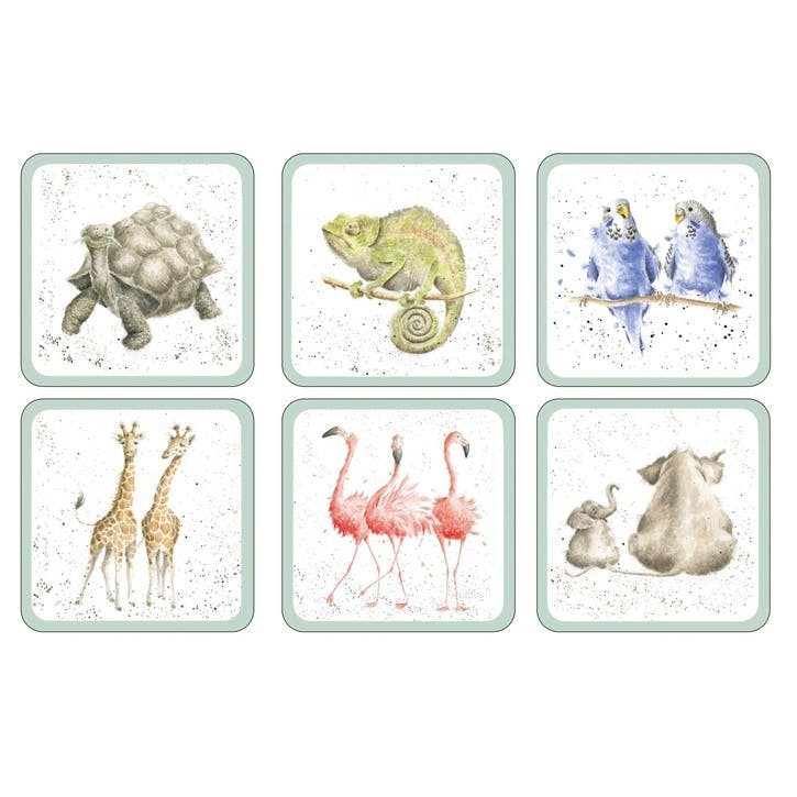 Wrendale Zoological Coasters, Set of 6