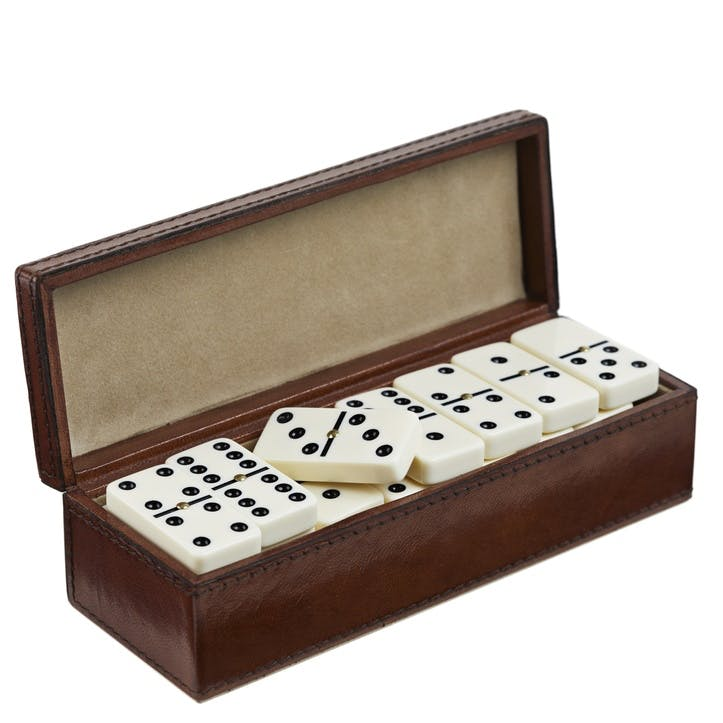 Leather Dominoes Set