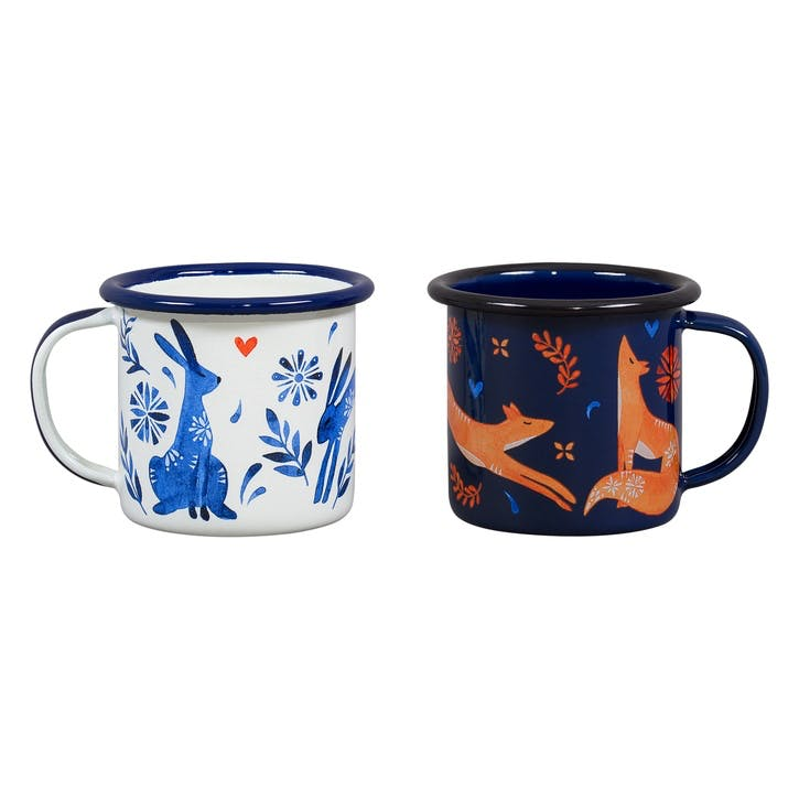 Folklore Espresso Cups, Set of 2