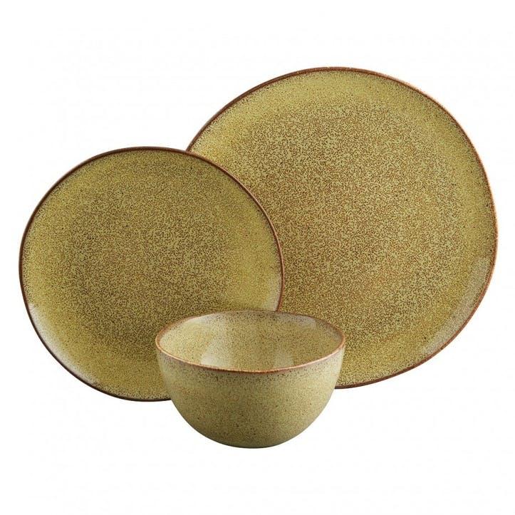 Olmo 12 Piece Dinnerware Set, Fennel Green