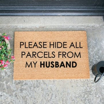 Please Hide All Parcels Doormat