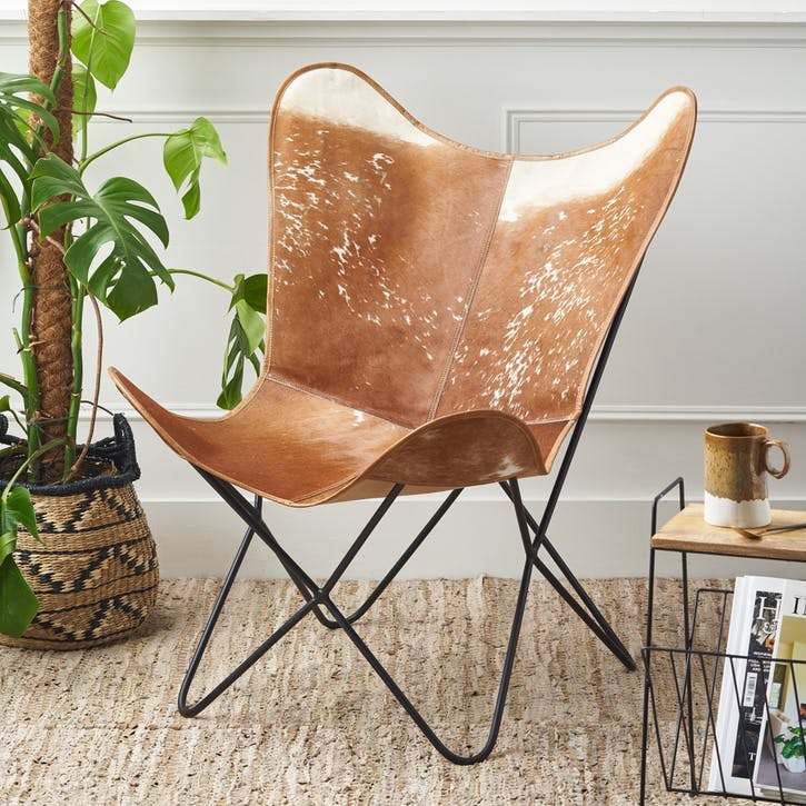 Hide Leather Butterfly Chair
