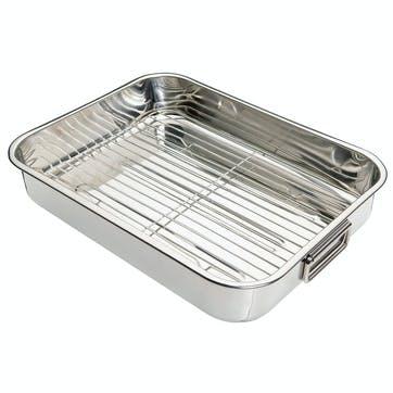 Stainless Steel Roasting Pan, 43cm x 31cm