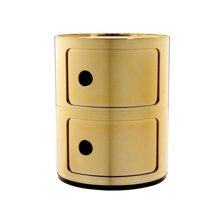 Componibili, 2 Door Cabinet, Gold