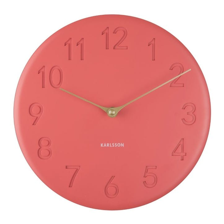 Sole Wall Clock, Coral
