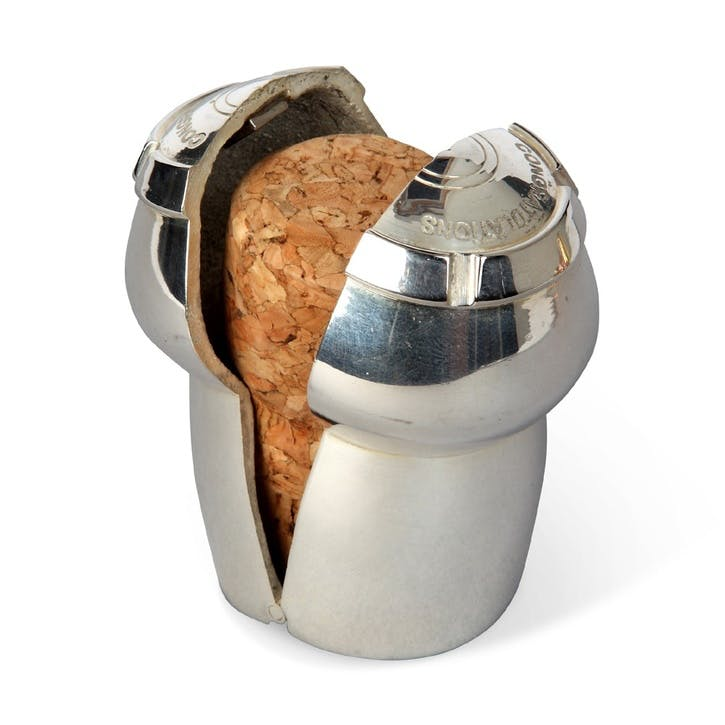 Champagne Cork Keeper; Silver