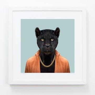 Zoo Portrait Print Panther, 33cm x 33cm