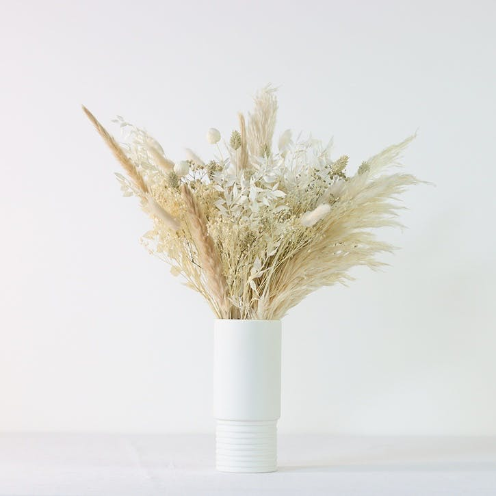 Hand-Tied Medium Bouquet, Natural Whites