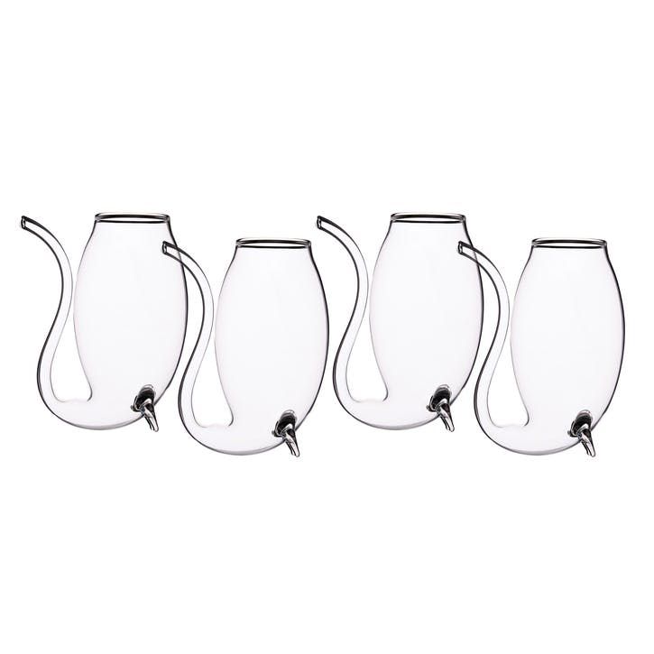 Set of 4 Glass Port Sippers