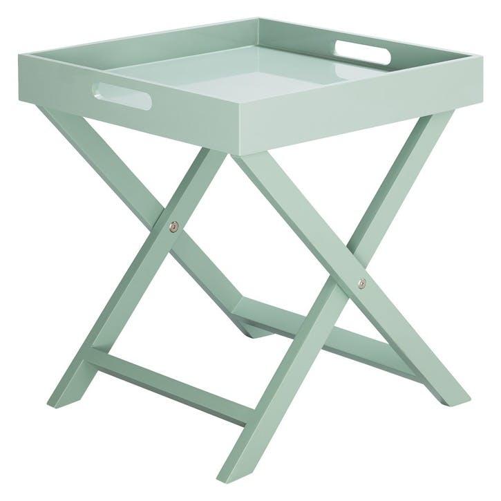 Oken Folding Side Table, Sage Green