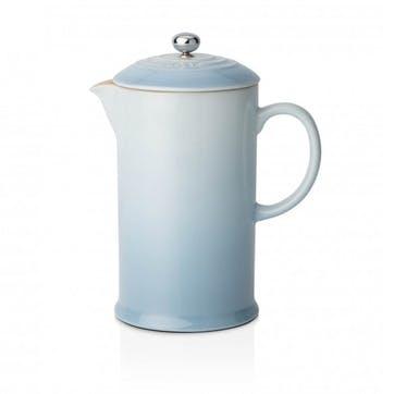 Stoneware Cafetiere with Metal Press; Coastal Blue
