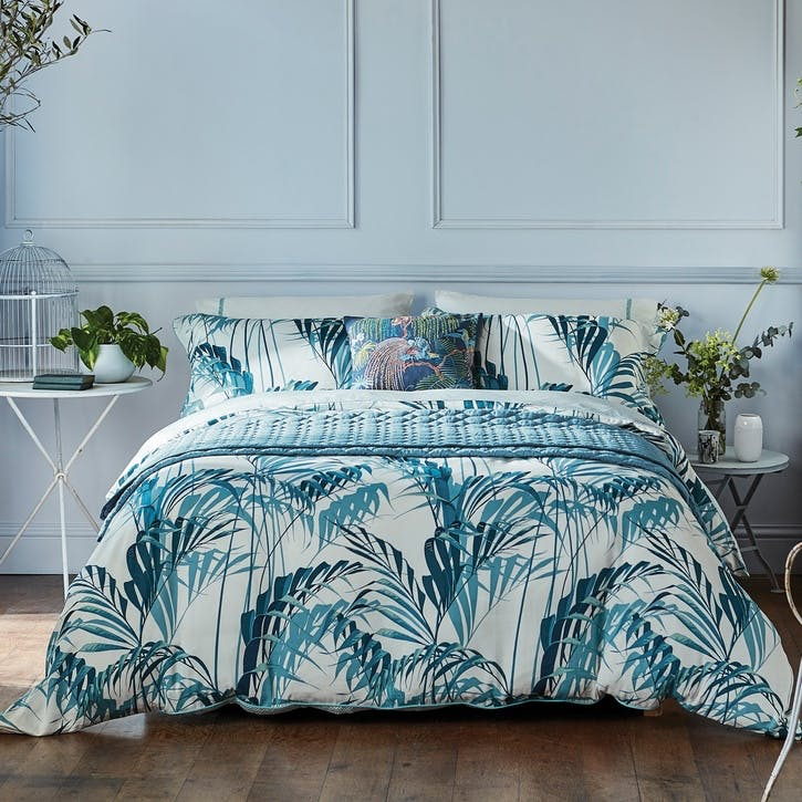 Palm House Super King Duvet Cover, Eucalyptus