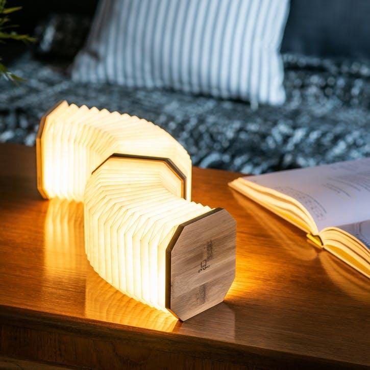 Smart Accordion Lamp, Bamboo