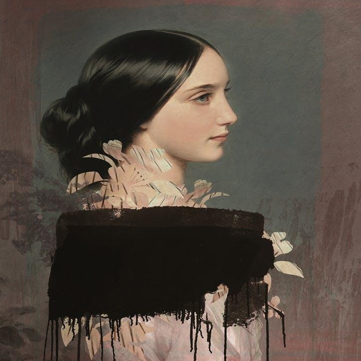 Galerie de Portraits Large Rectangular Tray Ida 4
