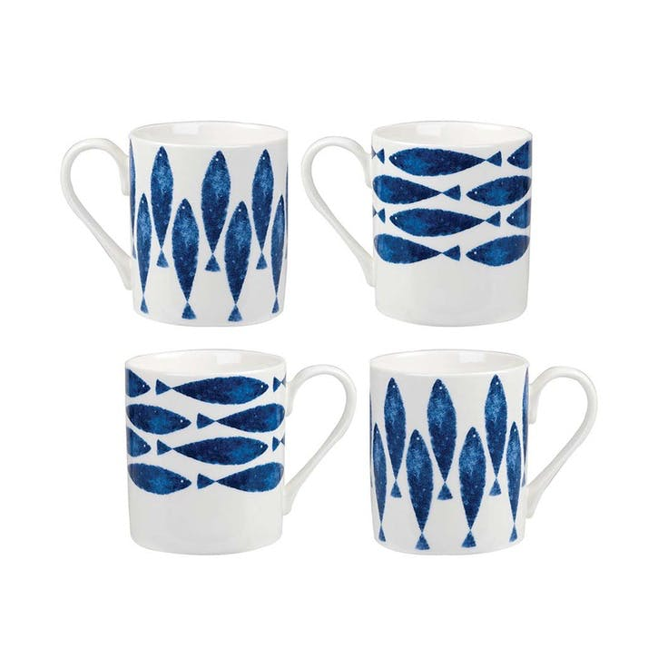 Sieni Fishie Larch Mugs, Set of 4