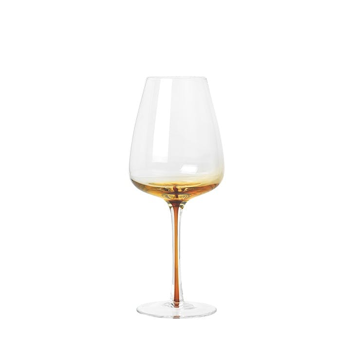 Amber White Wine Glass