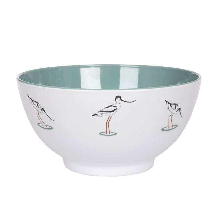 'Coastal Birds' Melamine Bowl