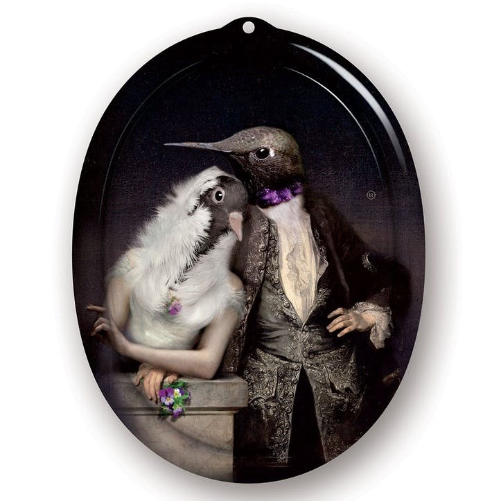 Galerie De Portraits Oval Tray, Love Birds