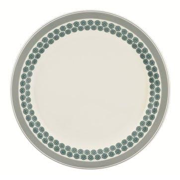 "Westerly Round Platter - 13""; Grey Band"