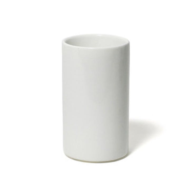 Lacquer Bathroom Tumbler, White