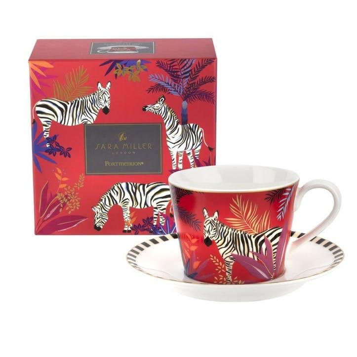 Zebra Teacup & Saucer, 0.20L