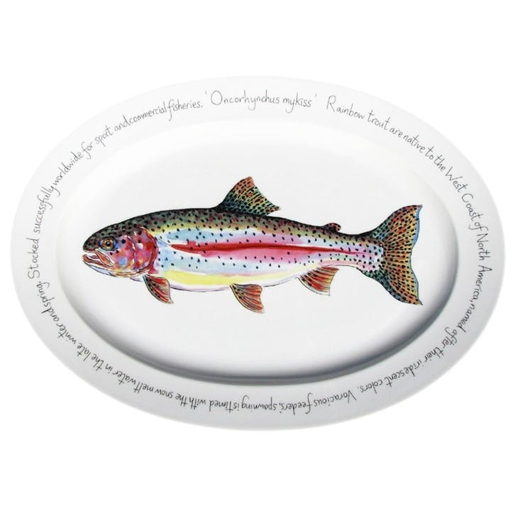 Rainbow Trout Oval Plate - 39cm