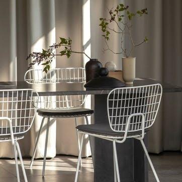 WM String, Pair of Dining Chairs, H72 x W66 x D53cm, White