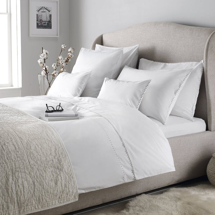 Avignon Duvet Cover, Superking, White
