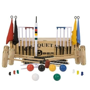 6 Player Executive Croquet Set with Wooden Box
