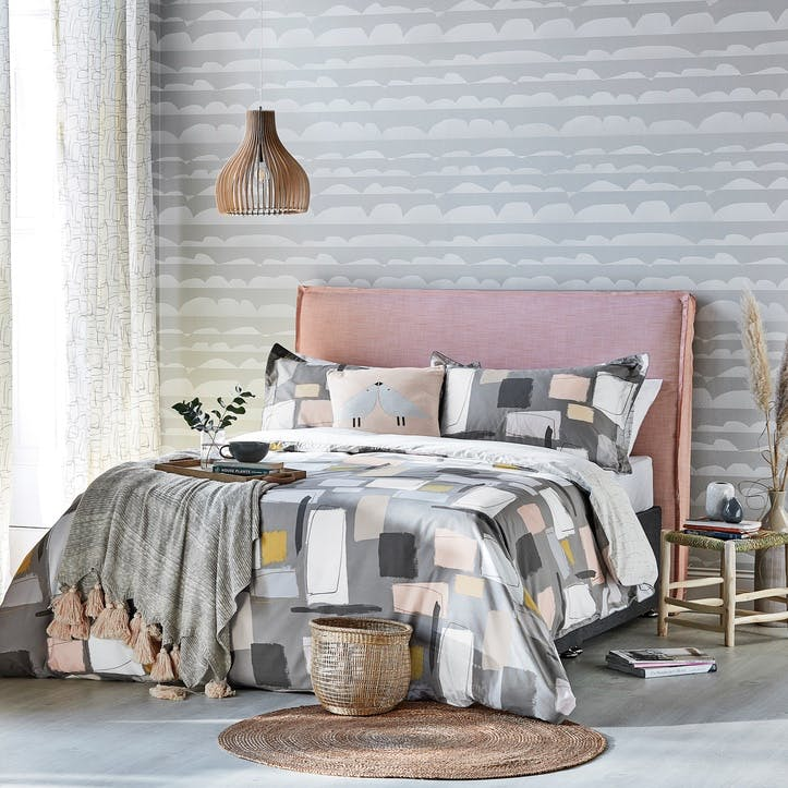 Composition King Duvet Cover, Putty