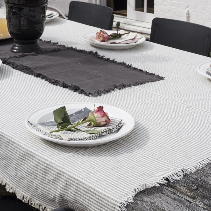 Manor Stripe Tablecloth