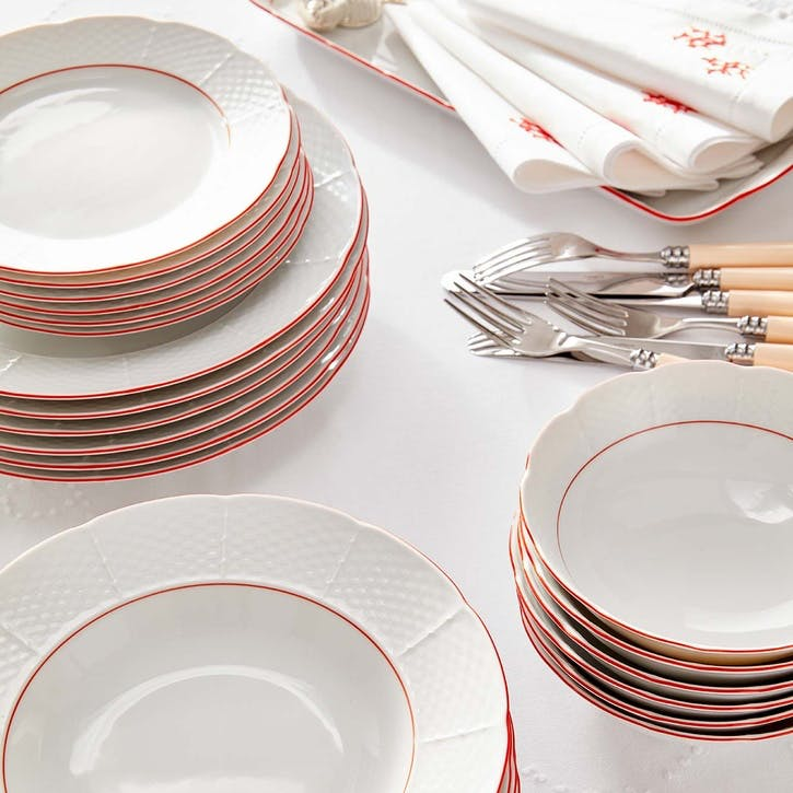 Pomona Rimmed Soup Plates, Set of 6