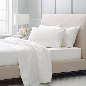 1000tc Luxury Cotton Pillowcase Pair, Snow