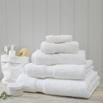 Egyptian Cotton Towel, Bath Towel, White